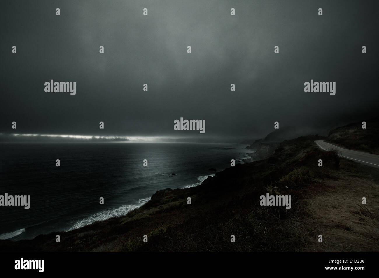 Northern California Coastline, PCH - Stock Image
