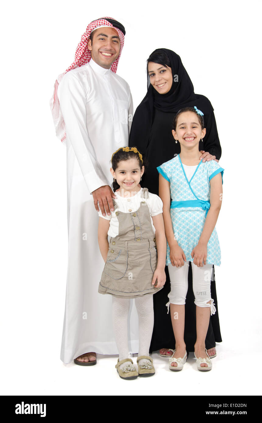 Arab Family Stock Photo
