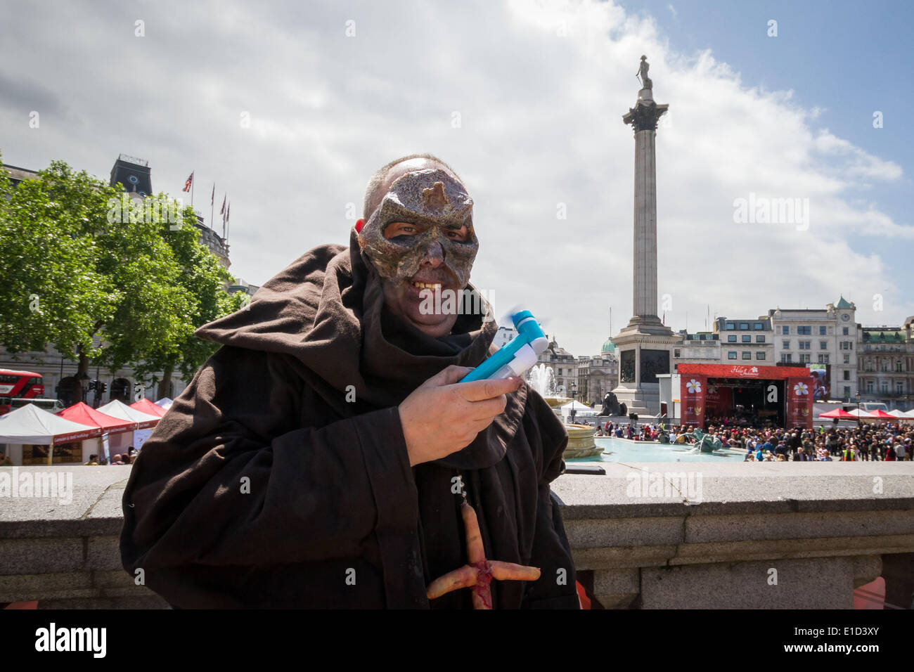 London, UK. 31st May 2014. Zombie Walk in London Credit:  Guy Corbishley/Alamy Live News Stock Photo