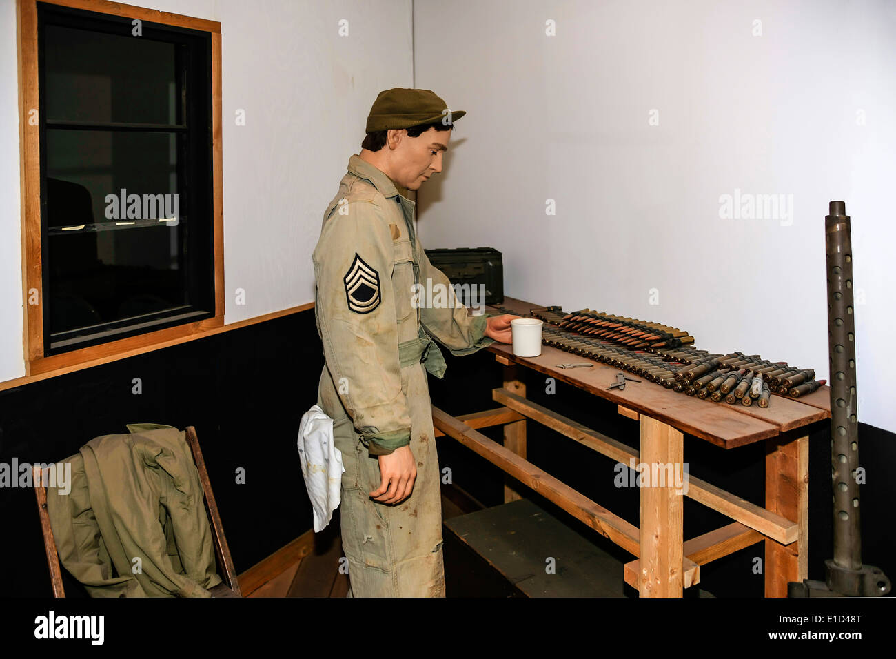 Mission Experience exhibit at the Mighty Eighth AF Museum in Pooer GA - Stock Image