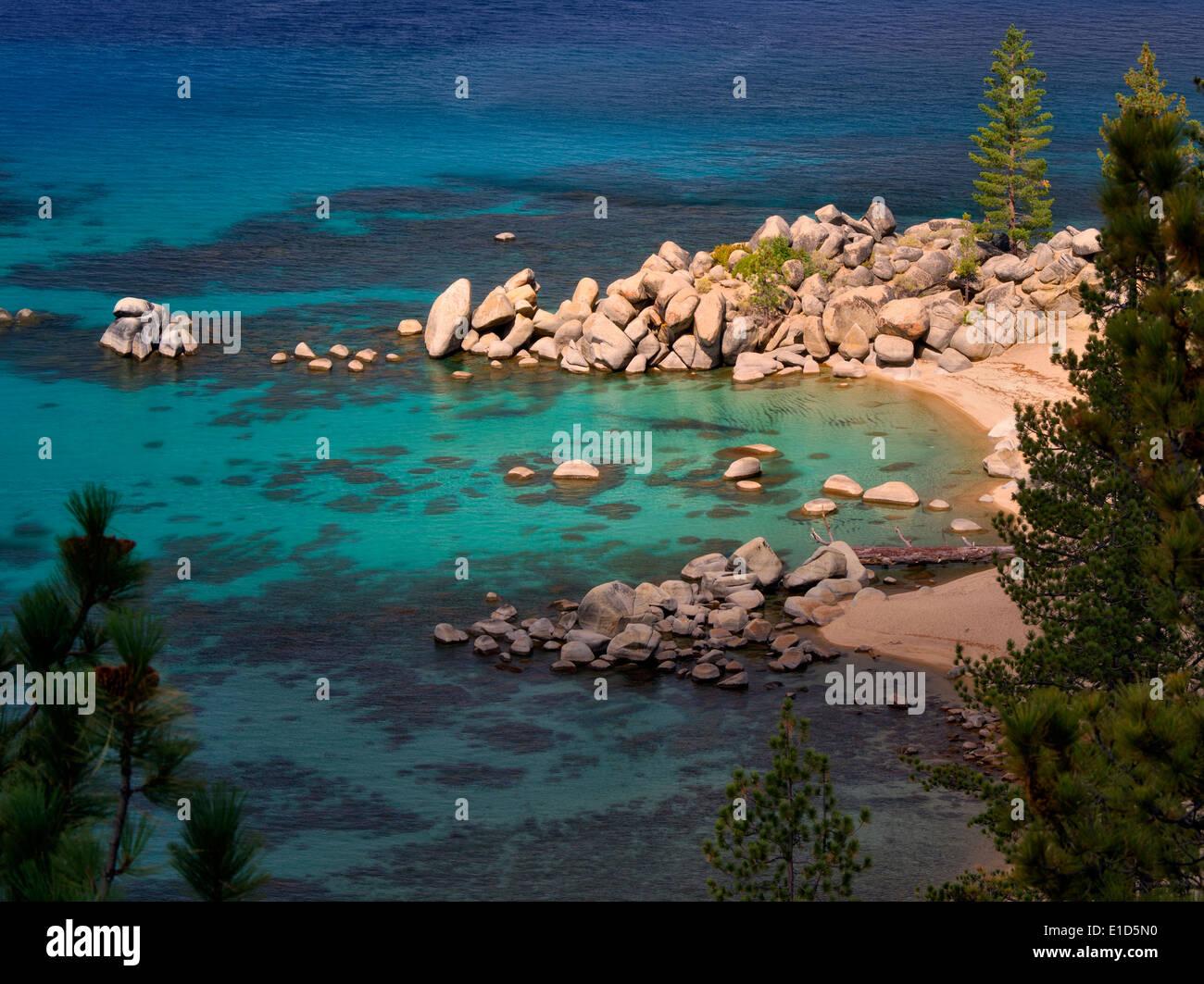 Chimney Beach cove. Lake Tahoe, Nevada - Stock Image