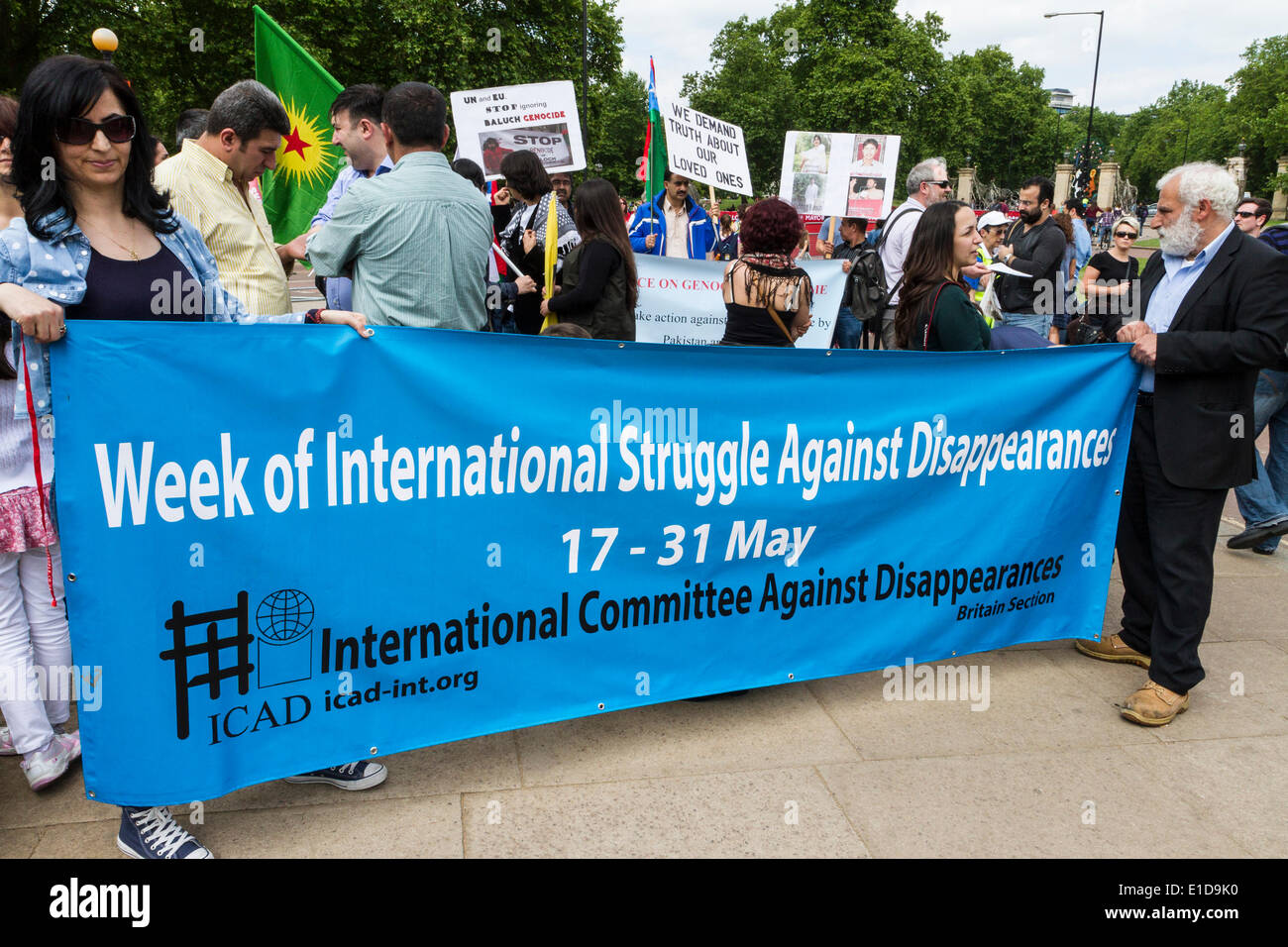 London, UK. 31st May, 2014. International Committee Against Disappearances (ICAD) march. - Stock Image