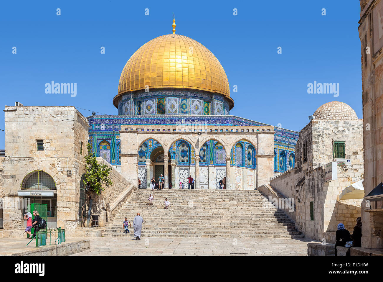 Dome of the Rock mosque in Jerusalem, Israel. - Stock Image