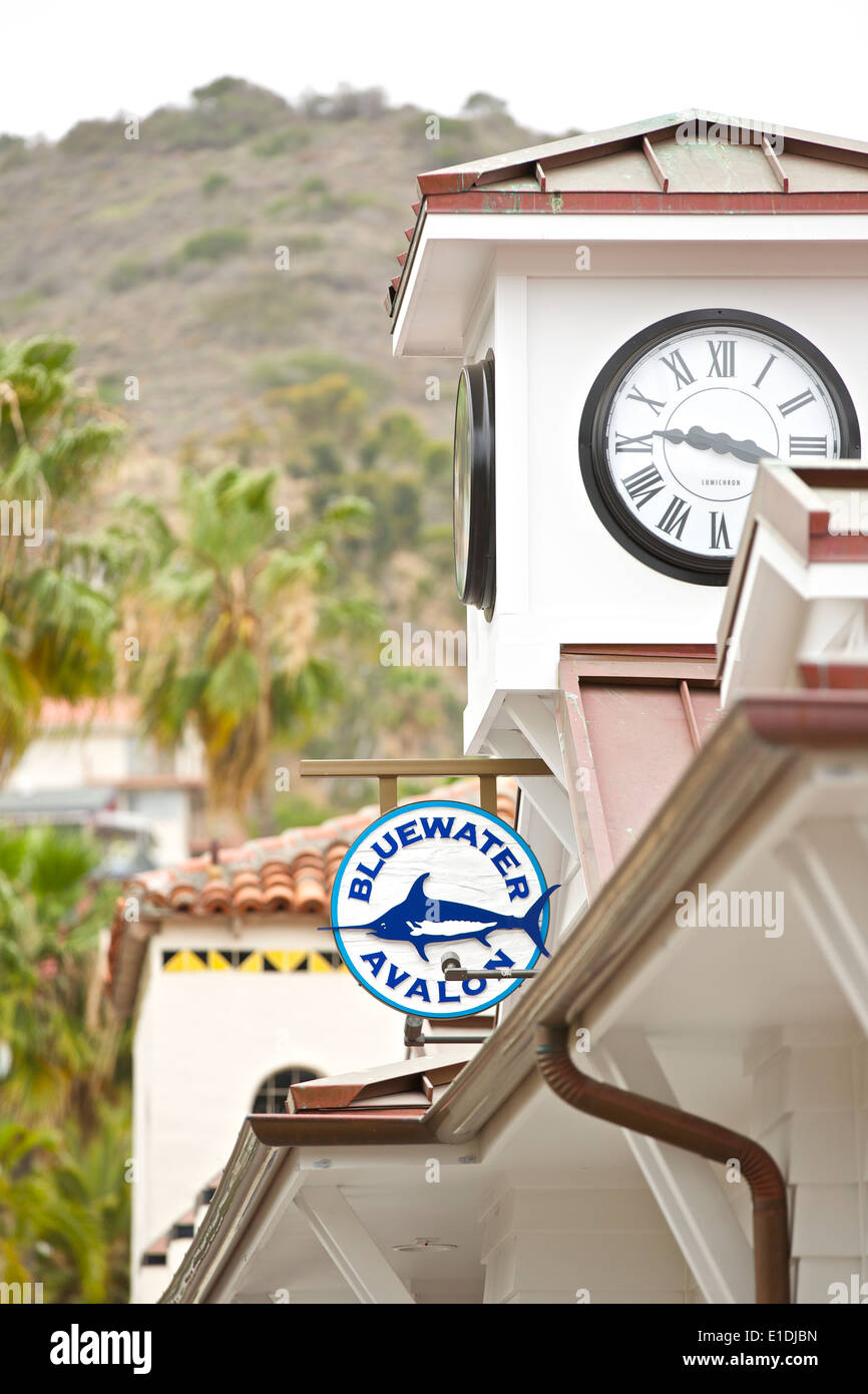 Clock Tower Of The Bluewater Restaurant In Avalon Santa