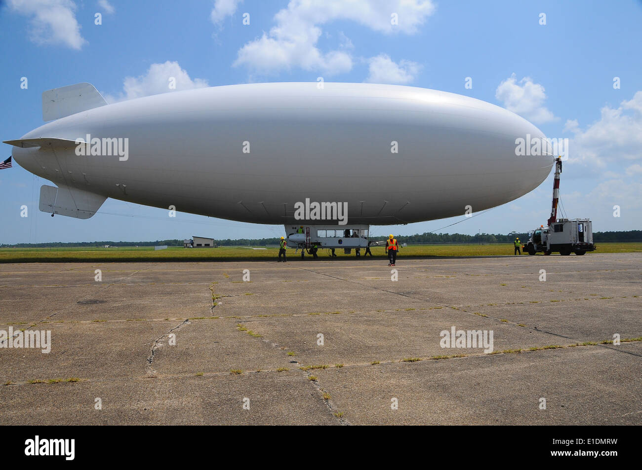 A U.S. Navy MZ-3A manned airship, Advanced Airship Flying Laboratory, derived from the commercial A-170 series blimp, Stock Photo
