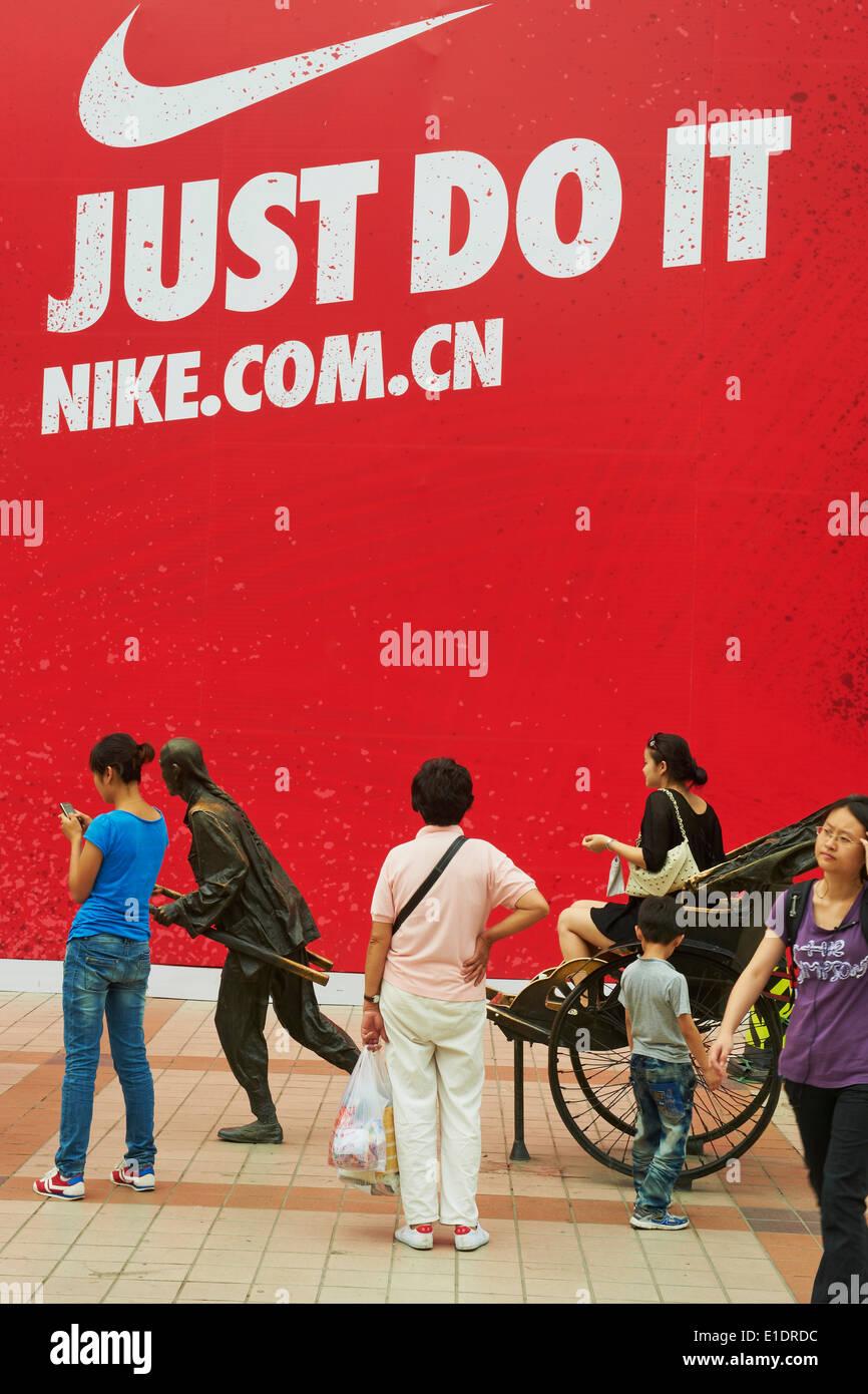China, Beijing, Wangfujing street - Stock Image