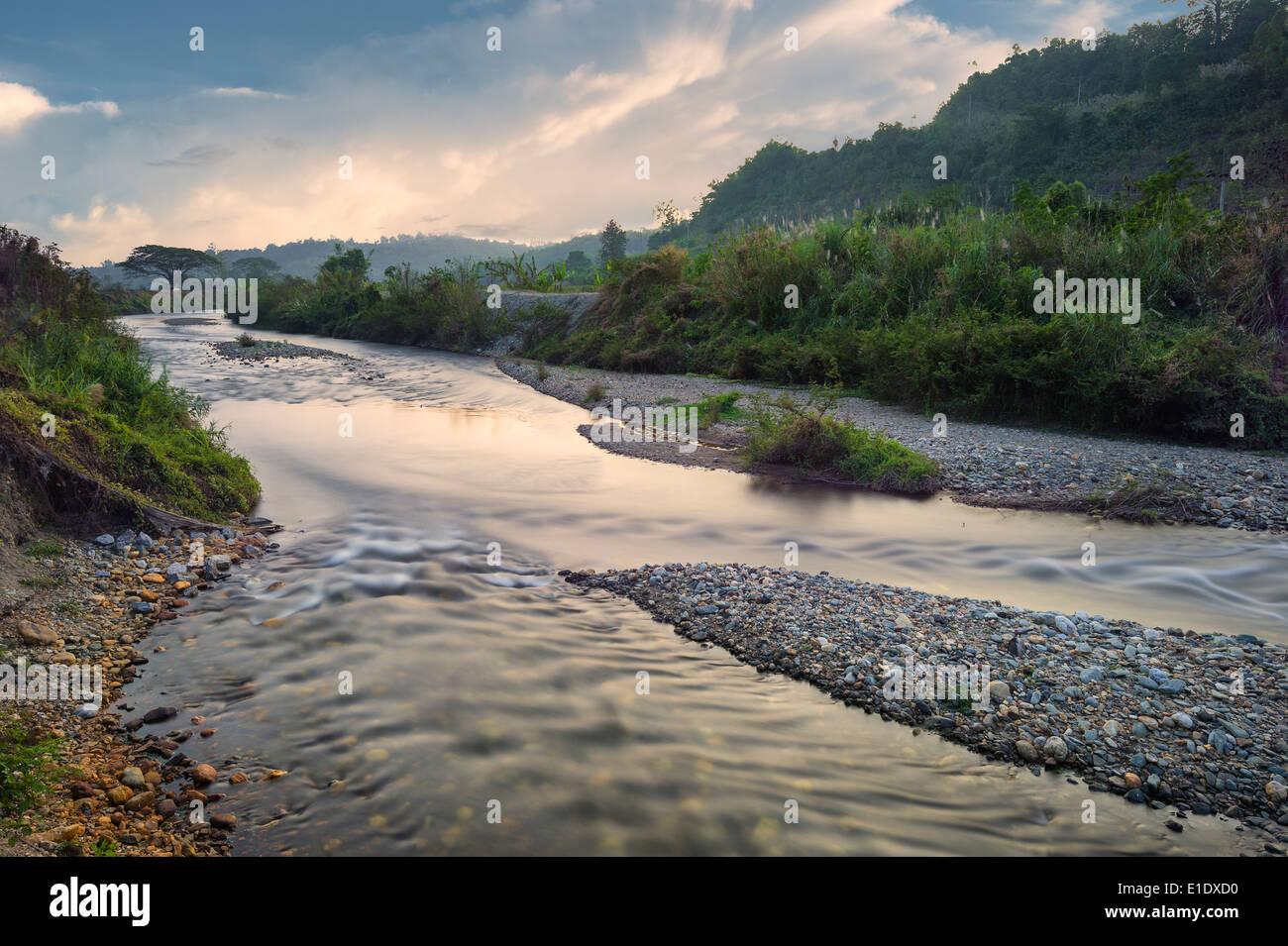 urban river - Stock Image