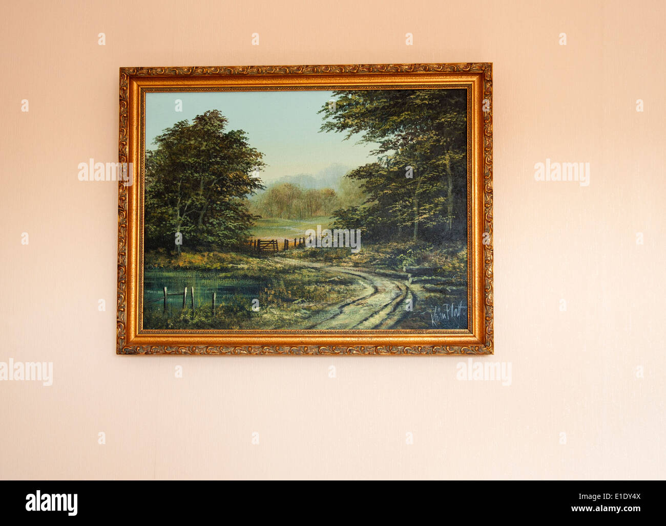 Original Oil Painting Hanging On A Wall Stock Photo 69762810 Alamy