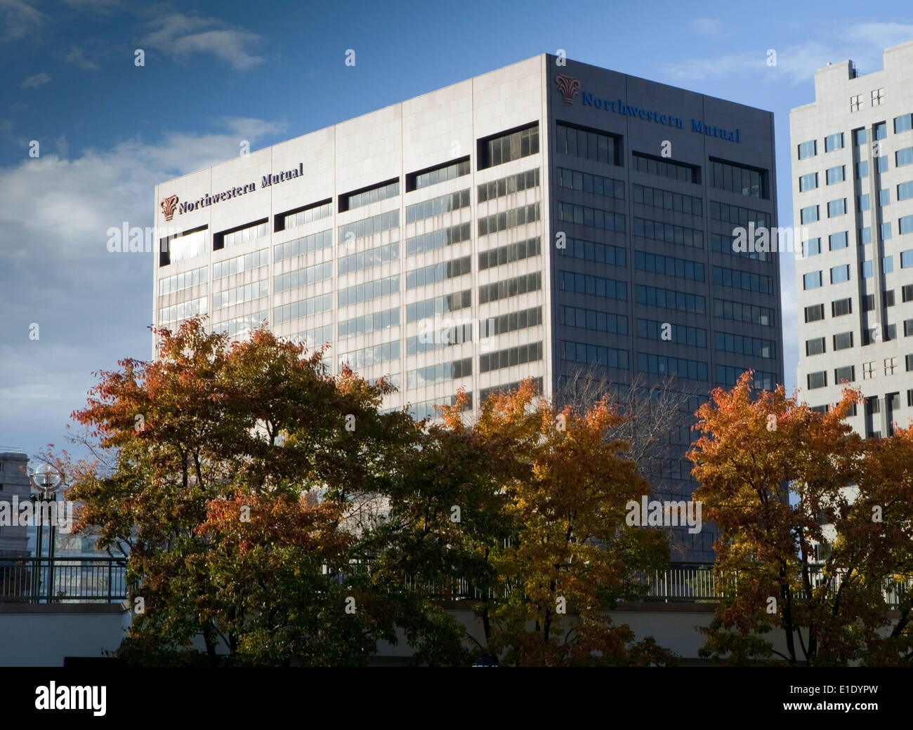 A view of the Northwestern Mutual headquarters in Milwaukee, Wisconsin - Stock Image
