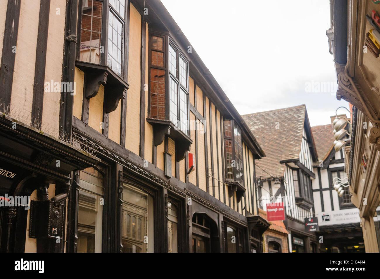 Tudor buildings in Ipswich - Stock Image