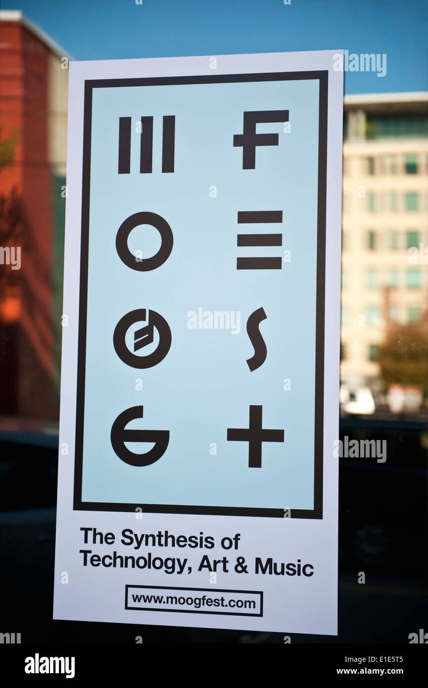 MOOG Fest The Synthesis of Technology, Art and Music festival in Asheville, North Carolina - Stock Image