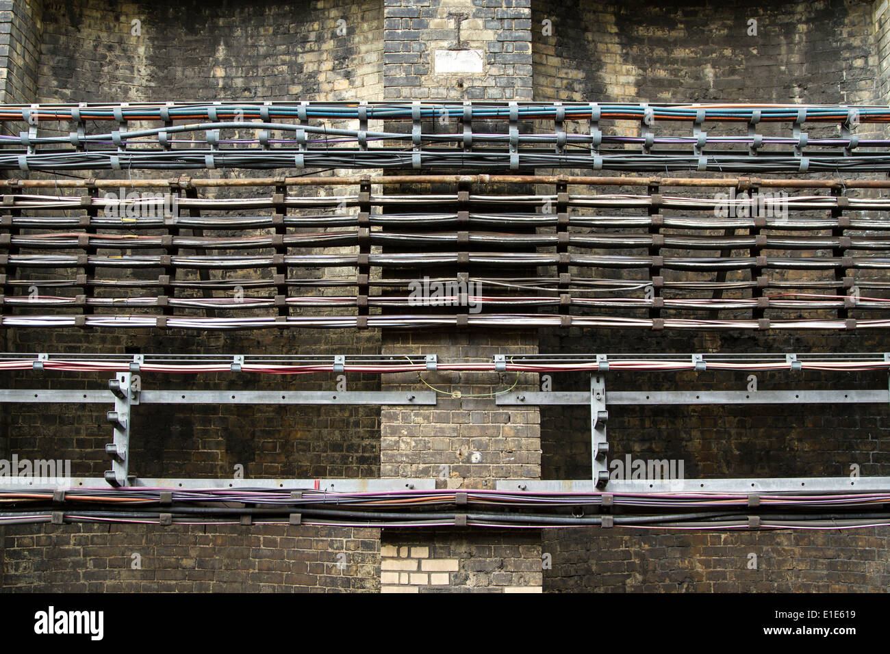 Underground Cable Stock Photos Images Alamy Wiring Code Canada London Wires