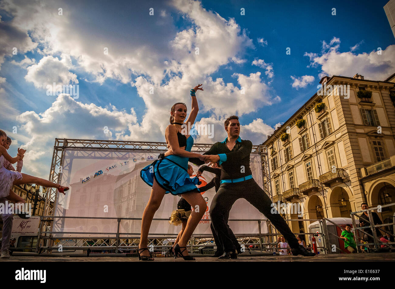 Turin, Italy. 01st June, 2014. Event 'The sport goes in the square in Turin'. Turin was chosen as the European - Stock Image