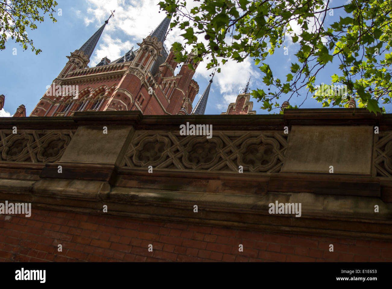 St Pancras railway station - Stock Image