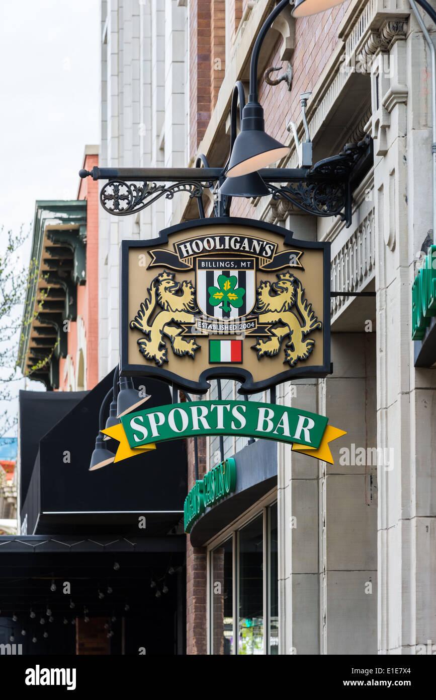 Sign for an Irish sports bar. Stock Photo