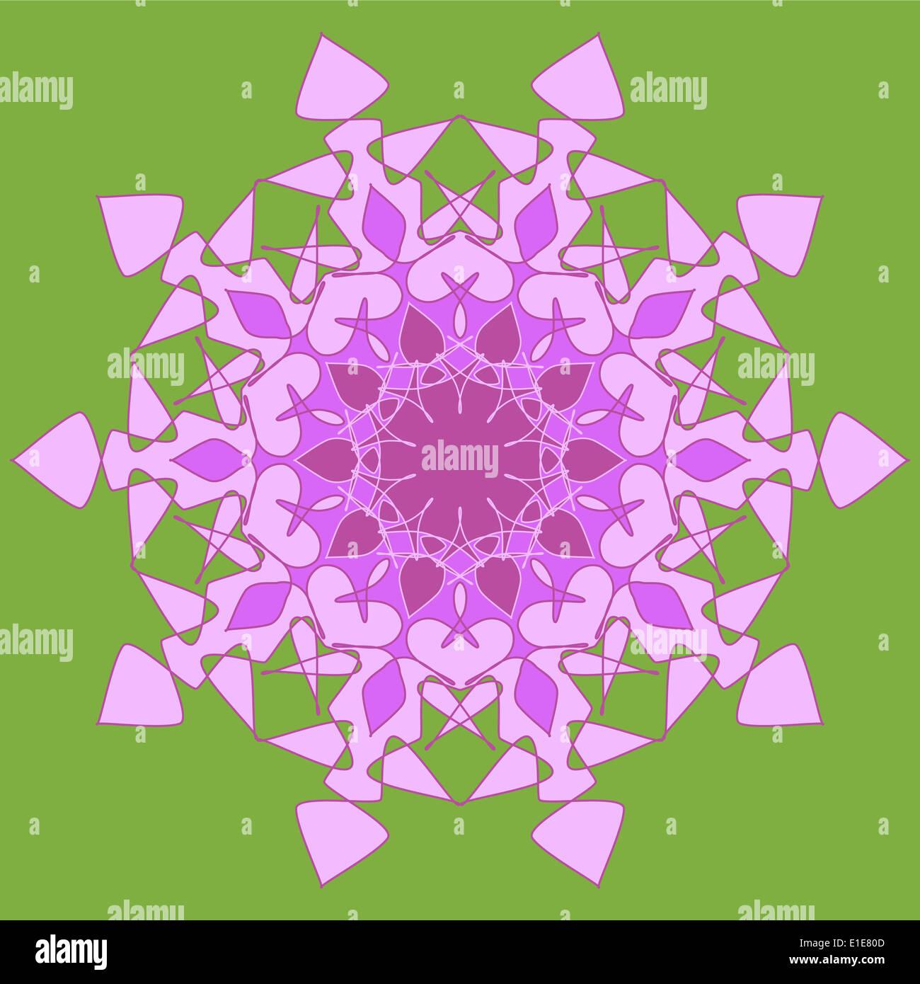 Artistic colorful mandala design Stock Photo