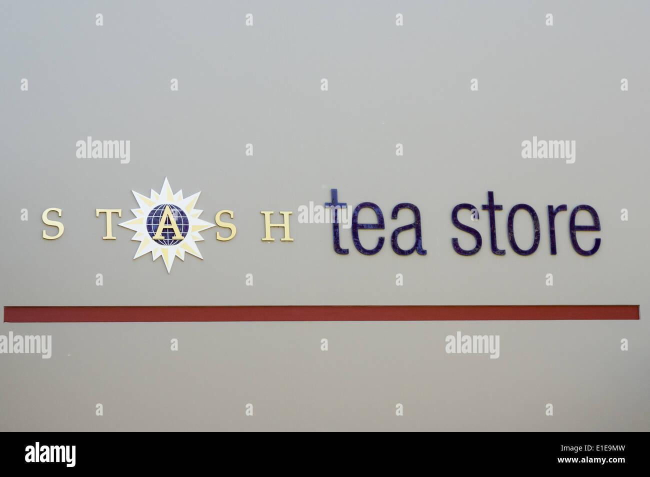 Stash Tea is a Portland based tea company supplying tea bags.  Portland, Oregon - Stock Image
