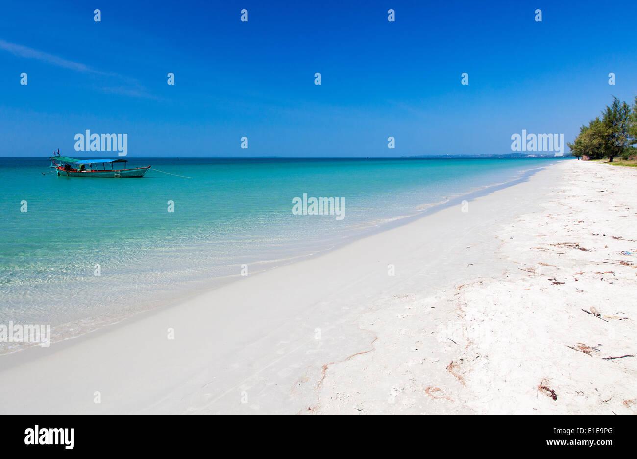 Otres Beach II , Sihanoukville, Cambodia - Stock Image
