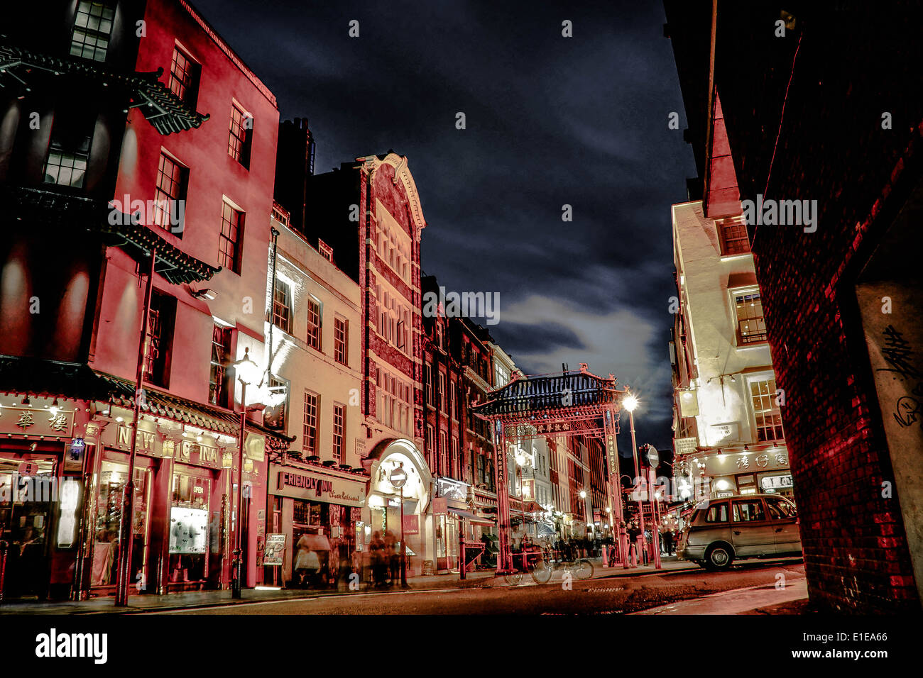 this picture was captured in China Town London - Stock Image