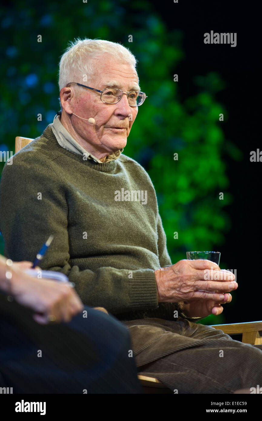 James Lovelock earth scientist and author of Gaia theory pictured at Hay Festival 2014 Hay on Wye Powys Wales uk ©Jeff Morgan - Stock Image