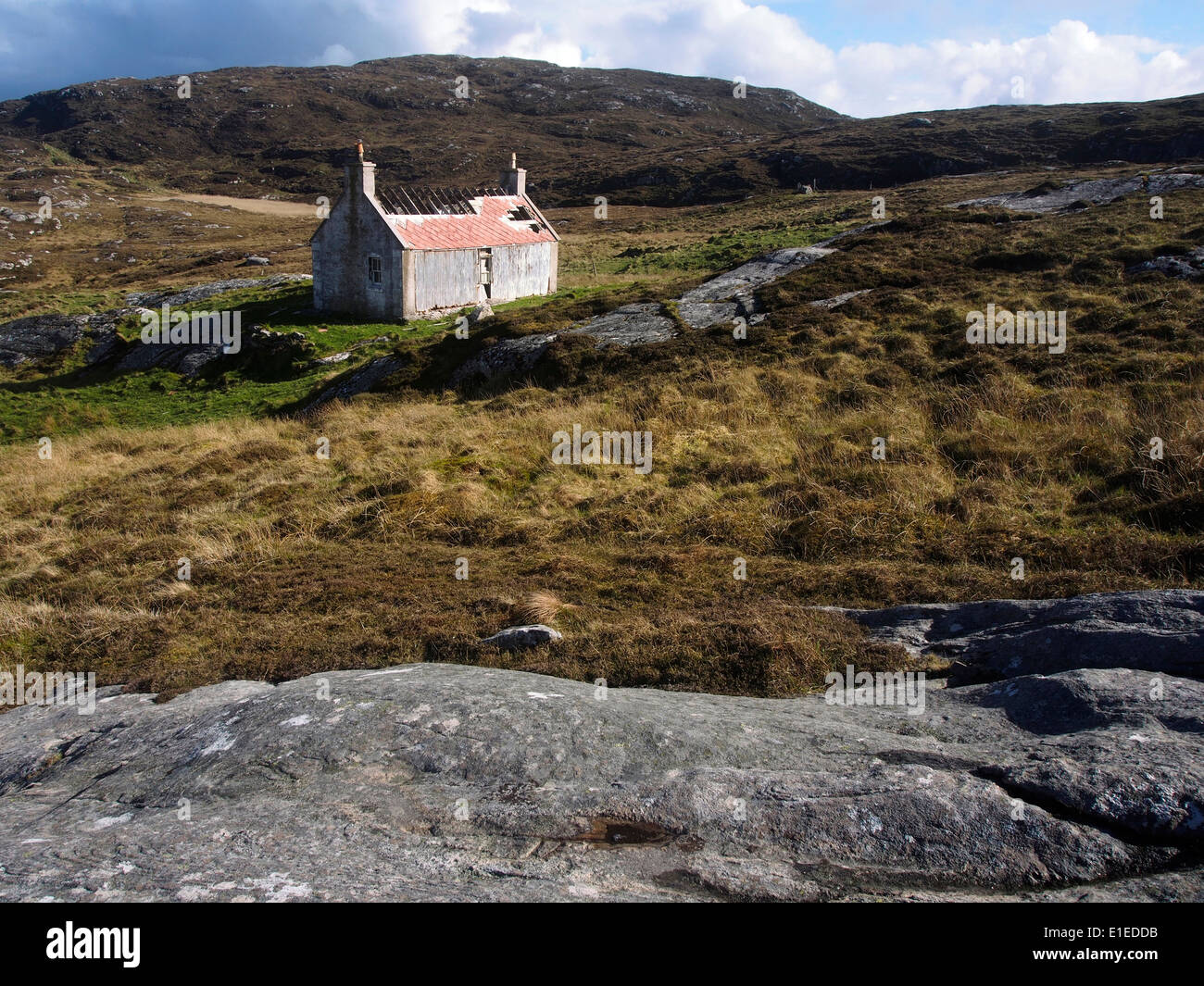 ruined house, Eriskay, Outer Hebrides, Scotland - Stock Image