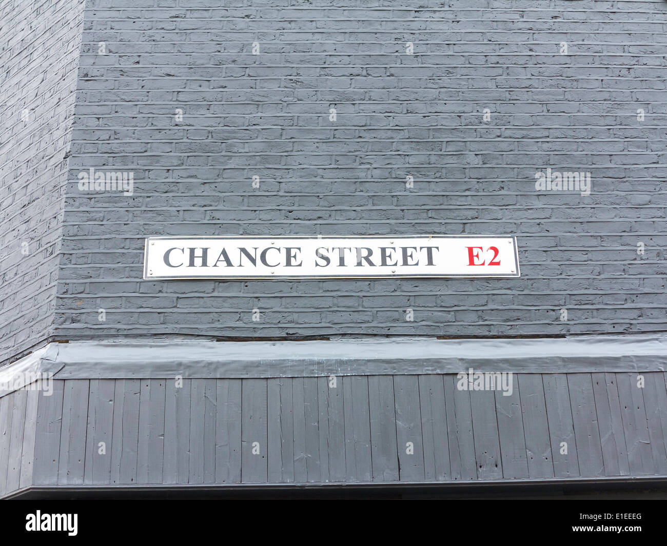 Chance Street street sign, London, England - Stock Image