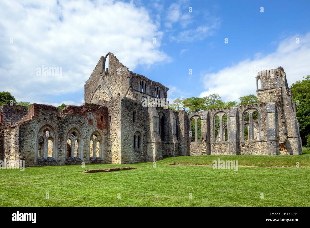 Netley Abbey, Southampton, England, United Kingdom - Stock Image