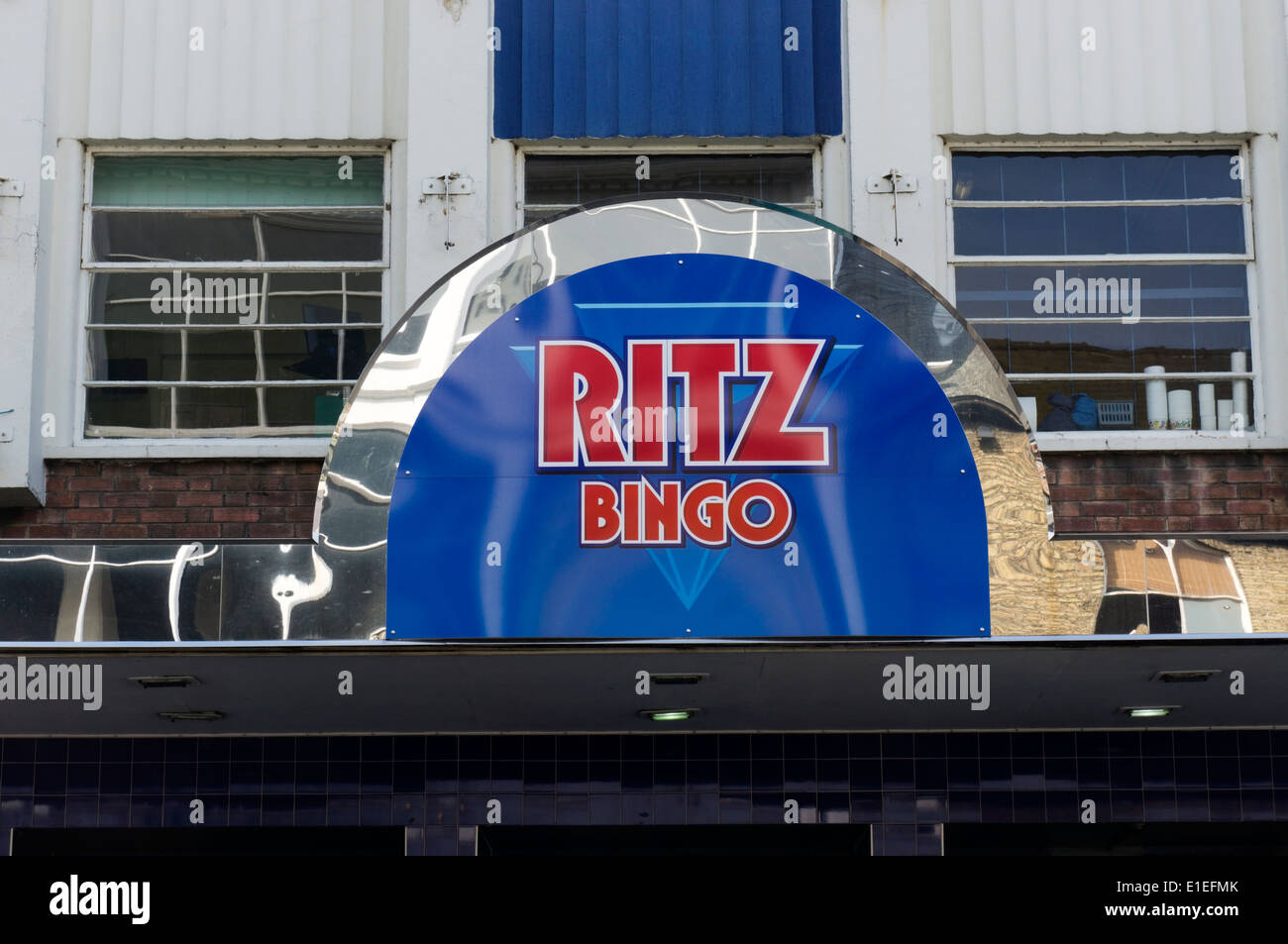 A sign for Ritz Bingo in King's Lynn, Norfolk. - Stock Image