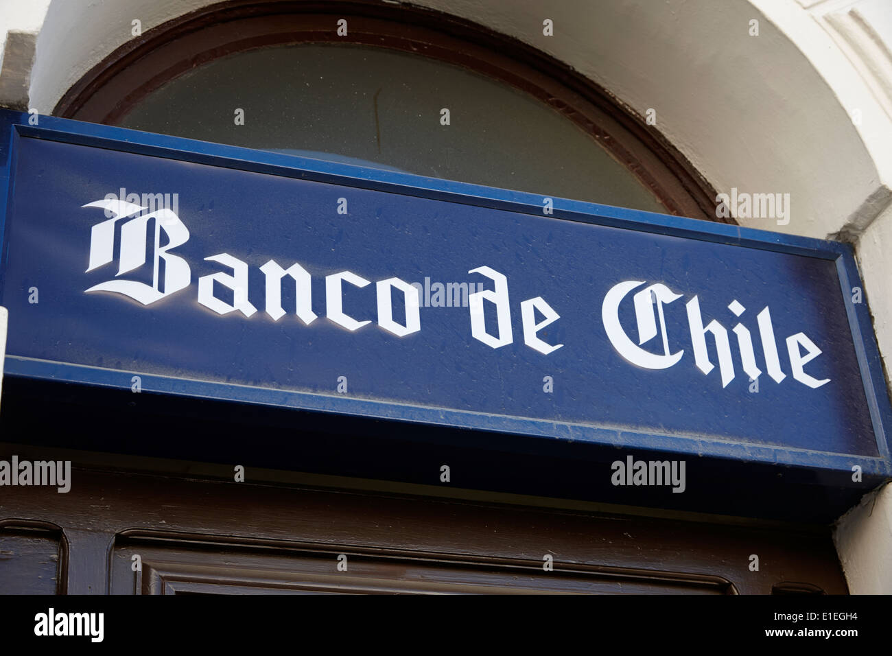 banco de chile logo Punta Arenas Chile Stock Photo