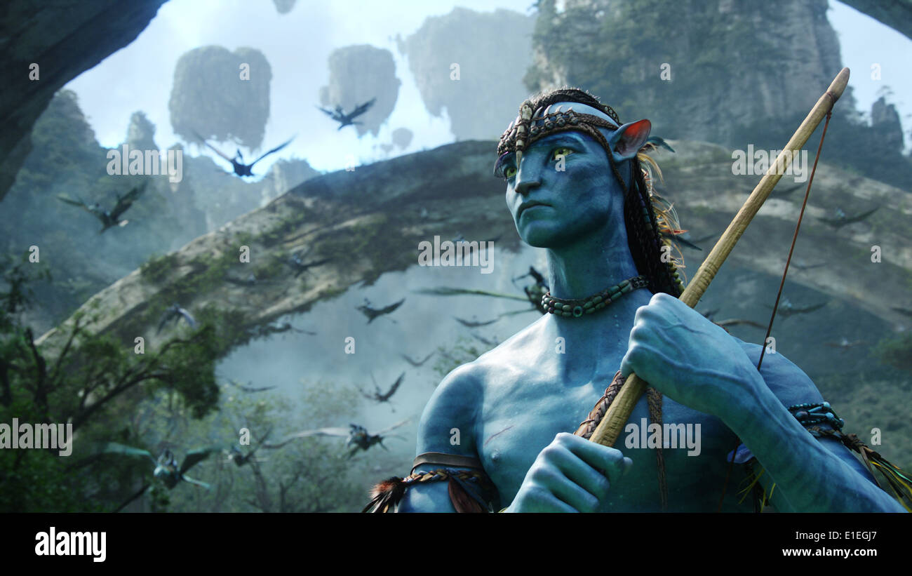 AVATAR (2009) SAM WORTHINGTON JAMES CAMERON (DIR) MOVIESTORE COLLECTION LTD - Stock Image