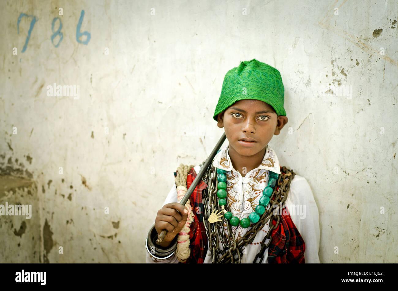 Sufi fakir(Muslim holy man)  Ajmer ,India - Stock Image