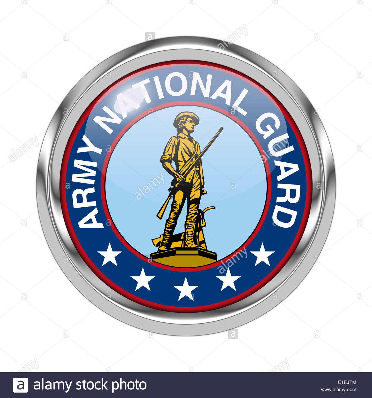 Army National Guard icon logo isolated app button - Stock Image