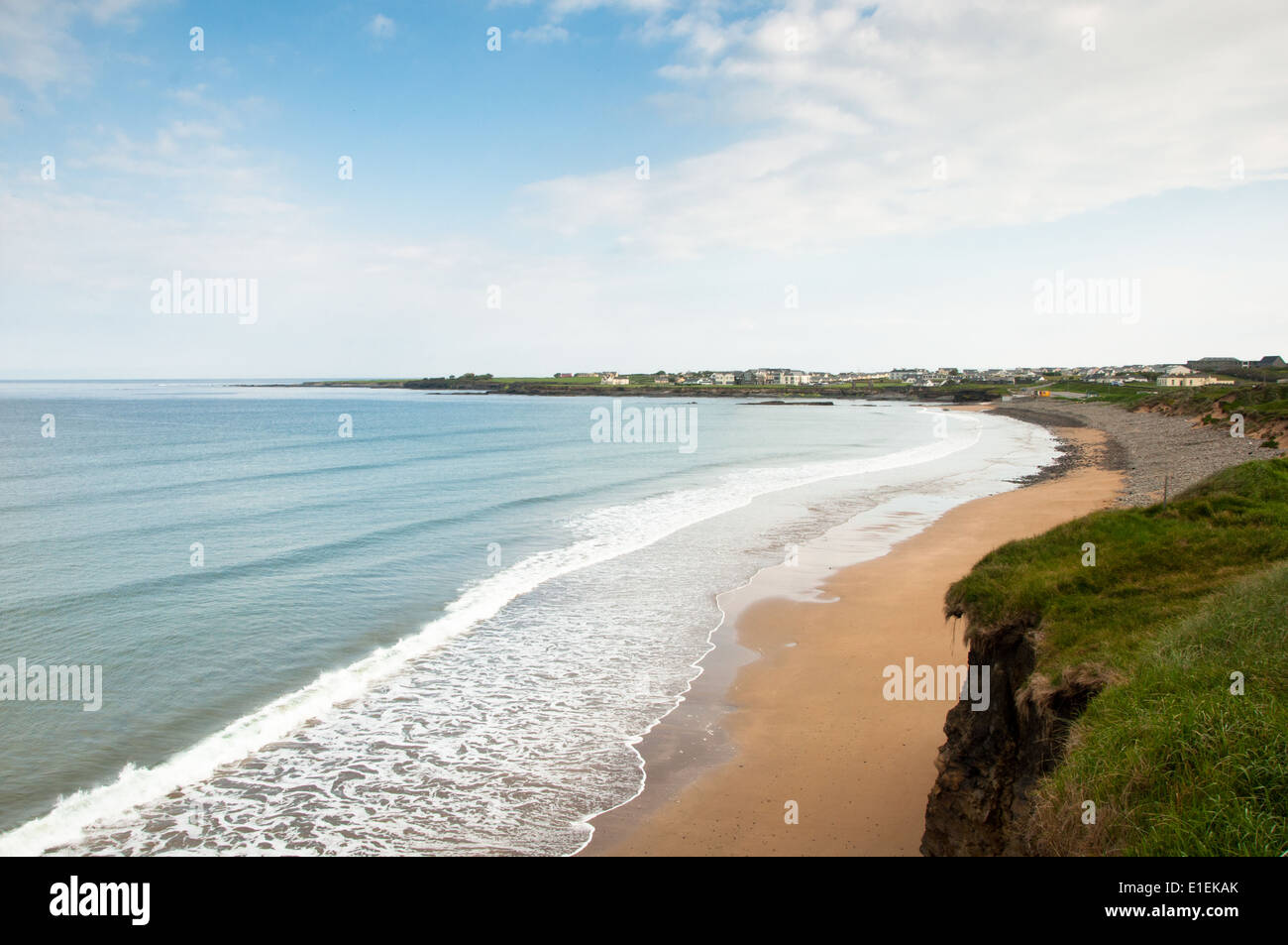 Beach at Spanish Point County Clare on West Coast of Ireland on a Calm, Sunny Morning - Stock Image
