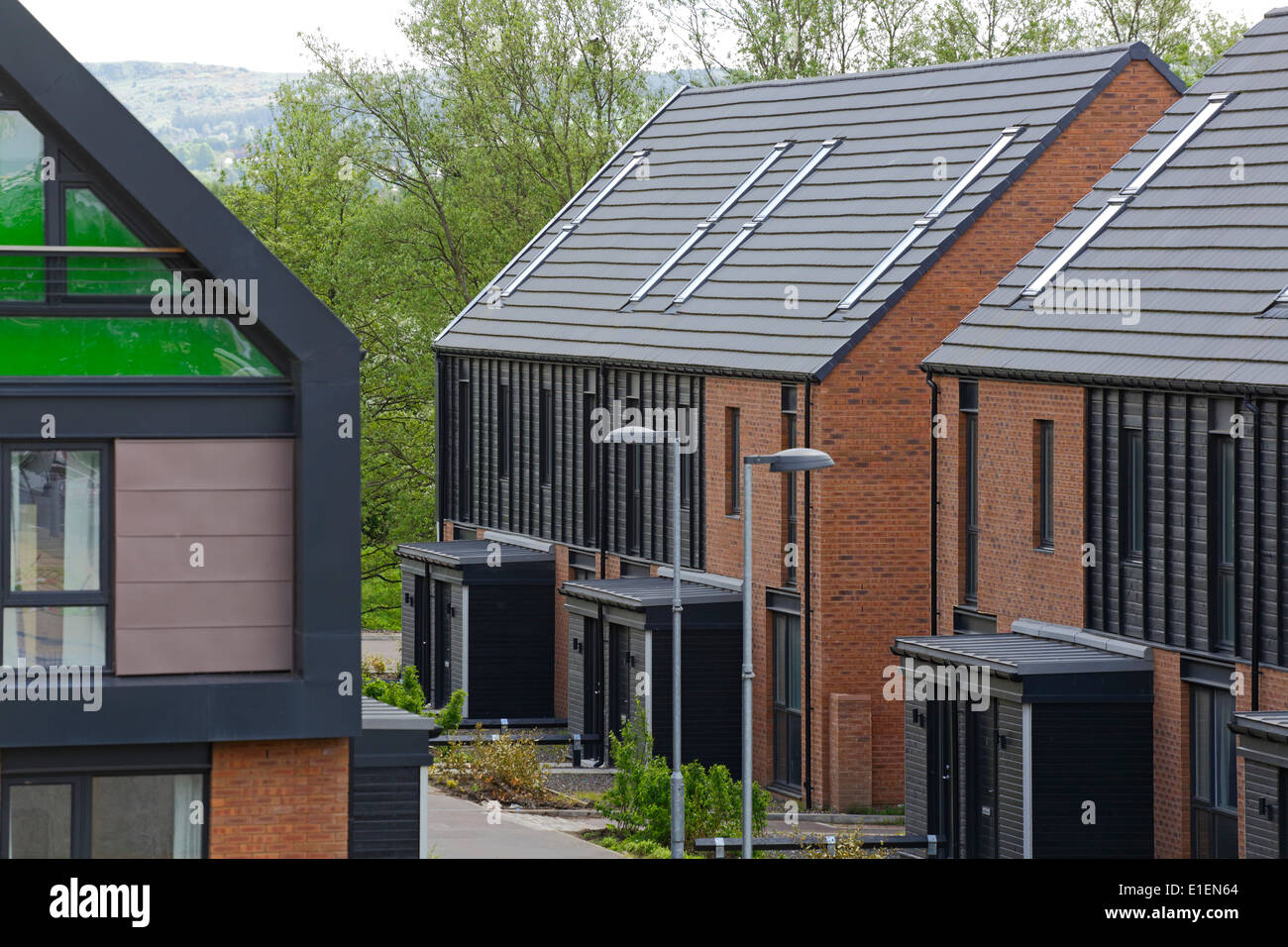 The Glasgow 2014 Commonwealth Games Athlete's Village in the East End of Glasgow, Scotland, UK - Stock Image