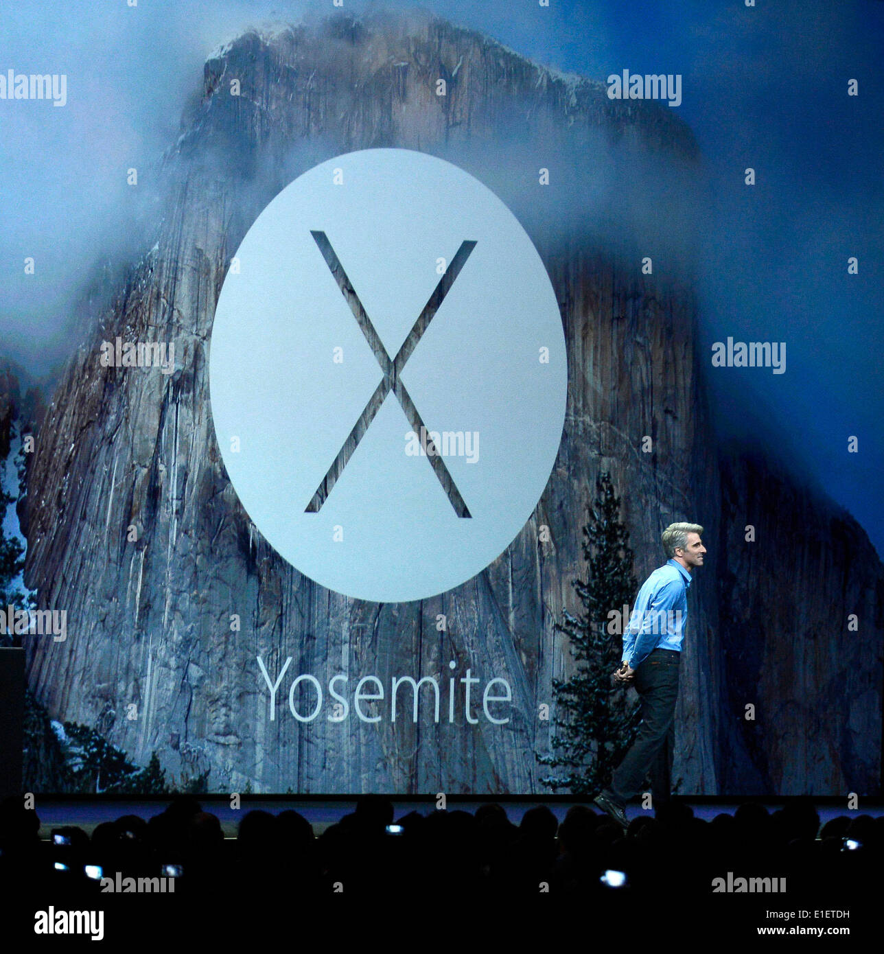 San Francisco, USA. 2nd June, 2014. Apple holds its World Wide Developers Conference (WWDC2014) in San Francisco, Stock Photo