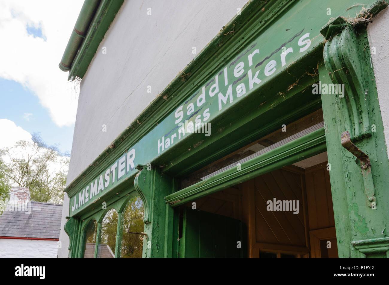 Saddler and Harness Maker shop - Stock Image