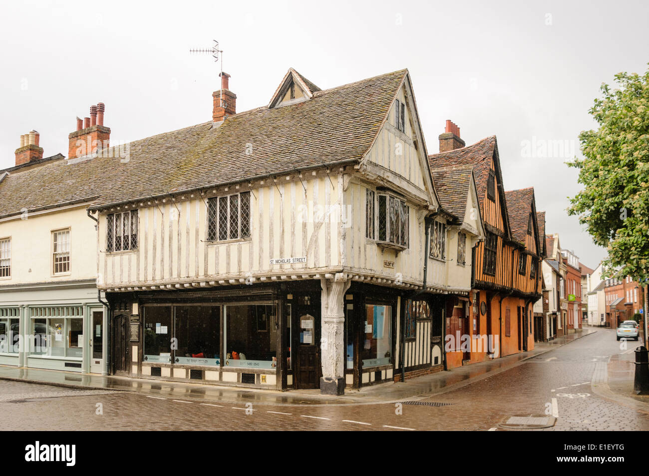 An old Tudor building in Ipswich - Stock Image