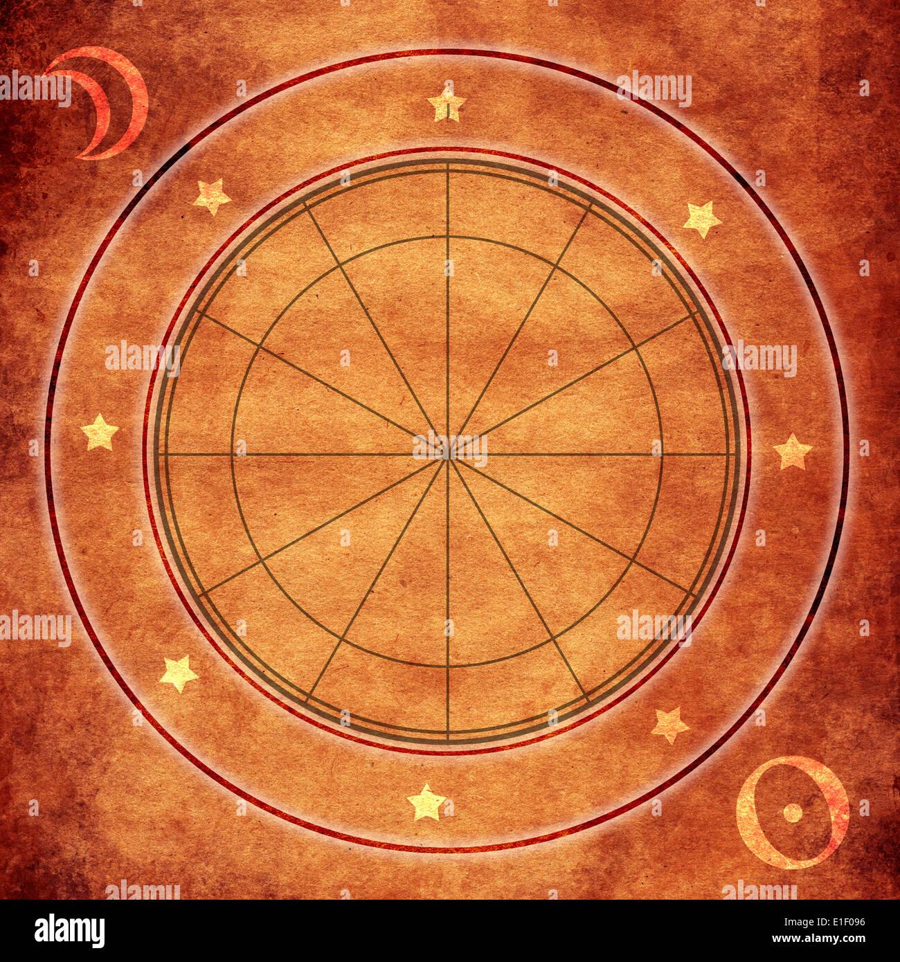 Blank Astrological Wheel Stock Photo Alamy