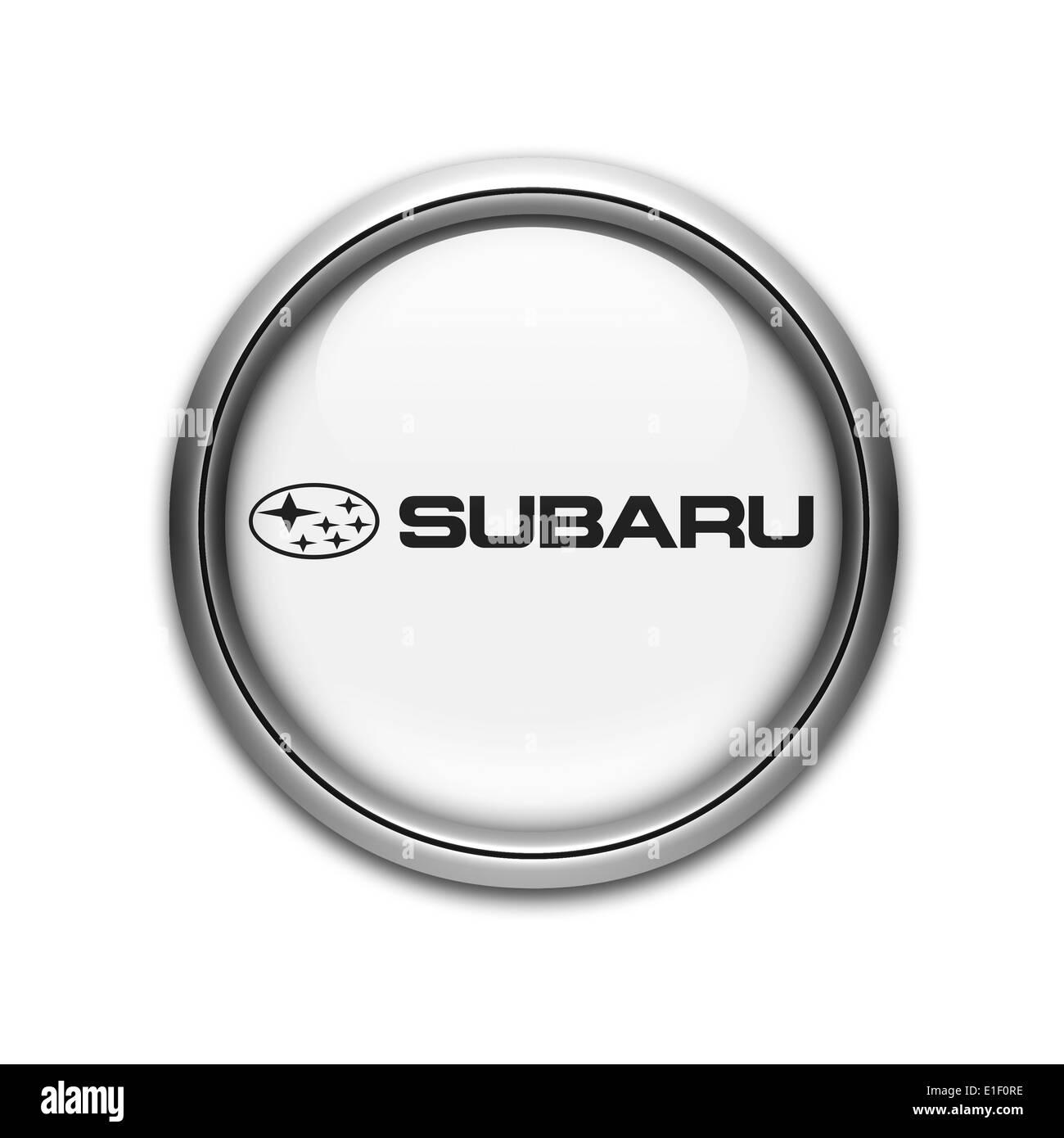 Subaru Logo Icon Flag Emblem Symbol Stock Photo 69786066 Alamy