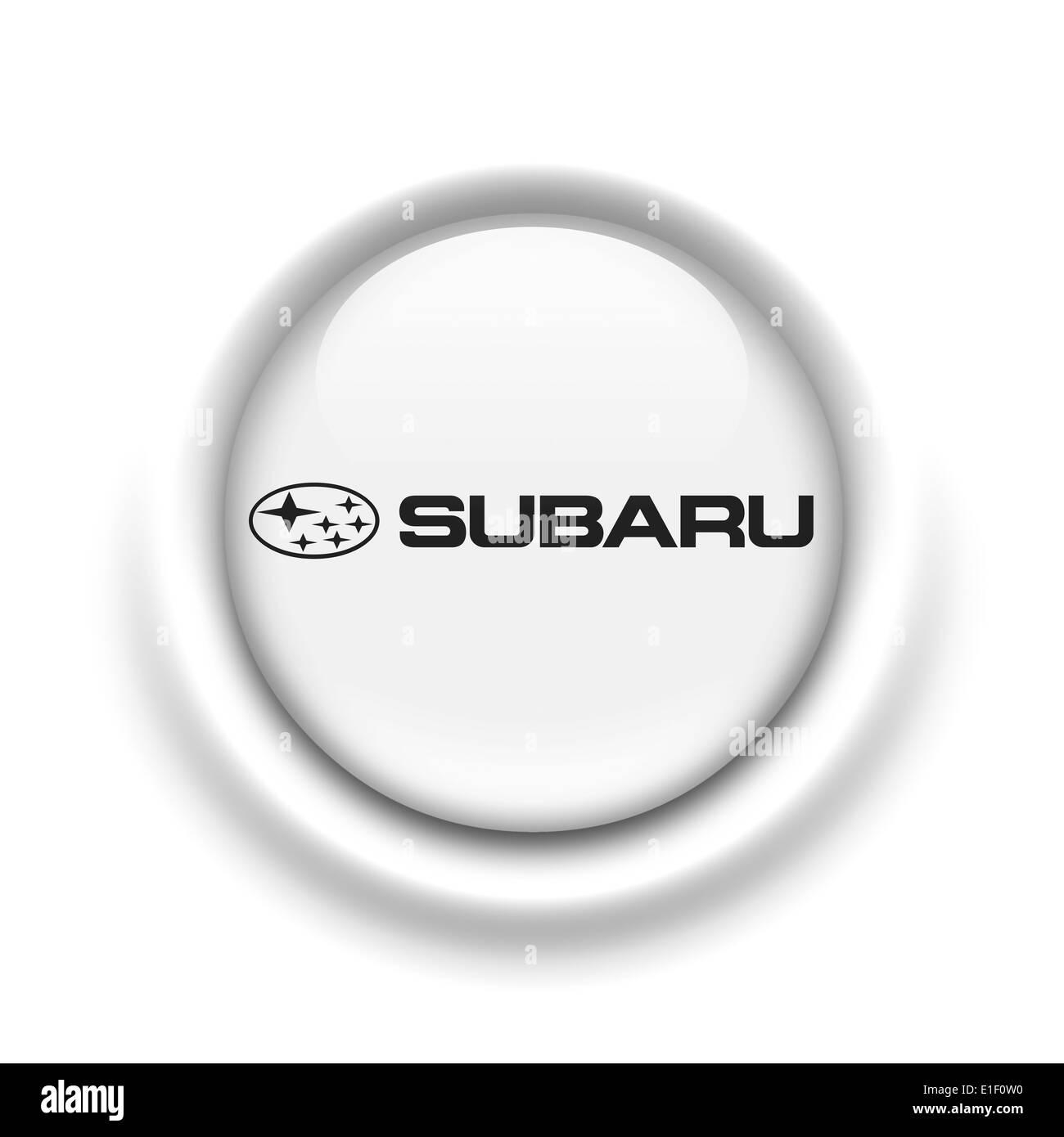 Subaru Logo Icon Flag Emblem Symbol Stock Photo 69786108 Alamy