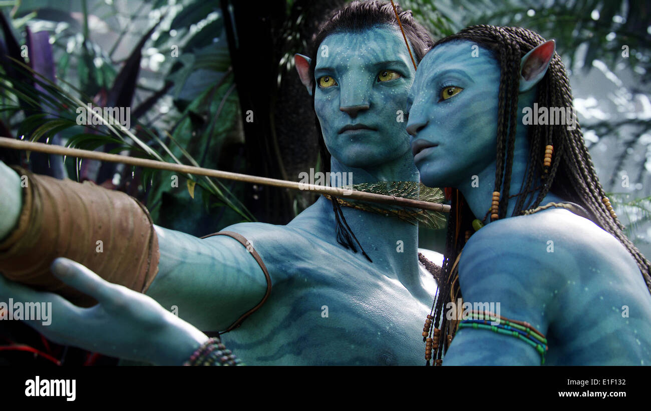 AVATAR (2009) SAM WORTHINGTON ZOE SALDANA JAMES CAMERON (DIR) MOVIESTORE COLLECTION LTD - Stock Image