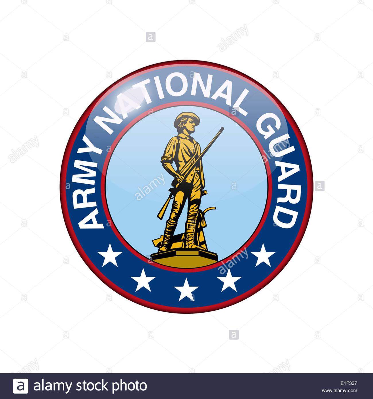 US Army National Guard icon logo isolated app button - Stock Image
