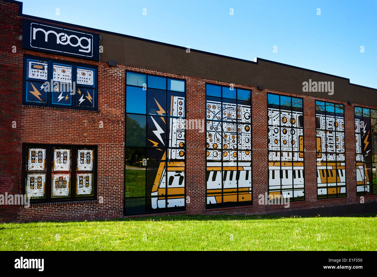 The MOOG Synthesizer Factory in Asheville North Carolina - Stock Image