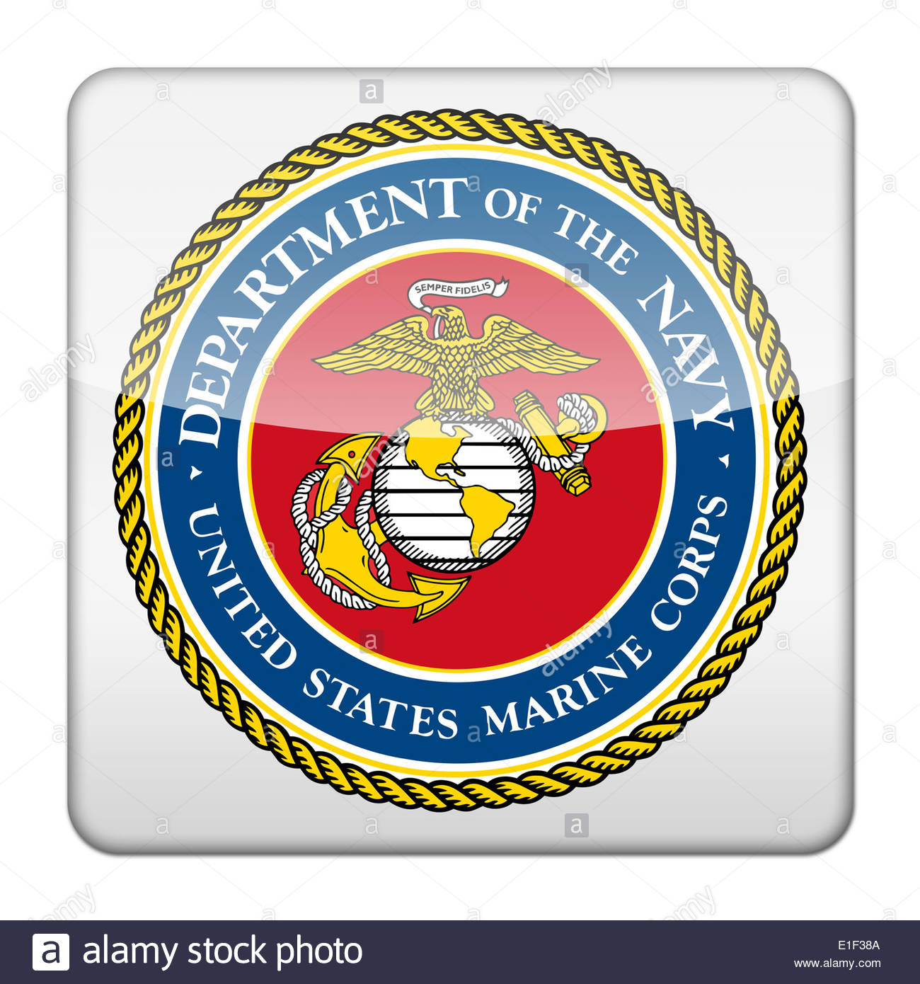 united states marine corps icon logo isolated app button us navy