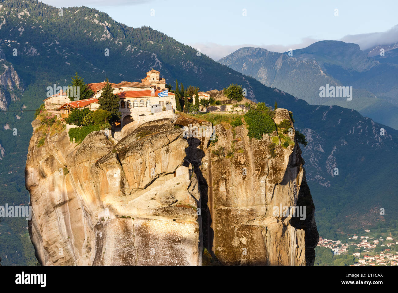Holy Trinity Monastery in Meteora rocks, meaning