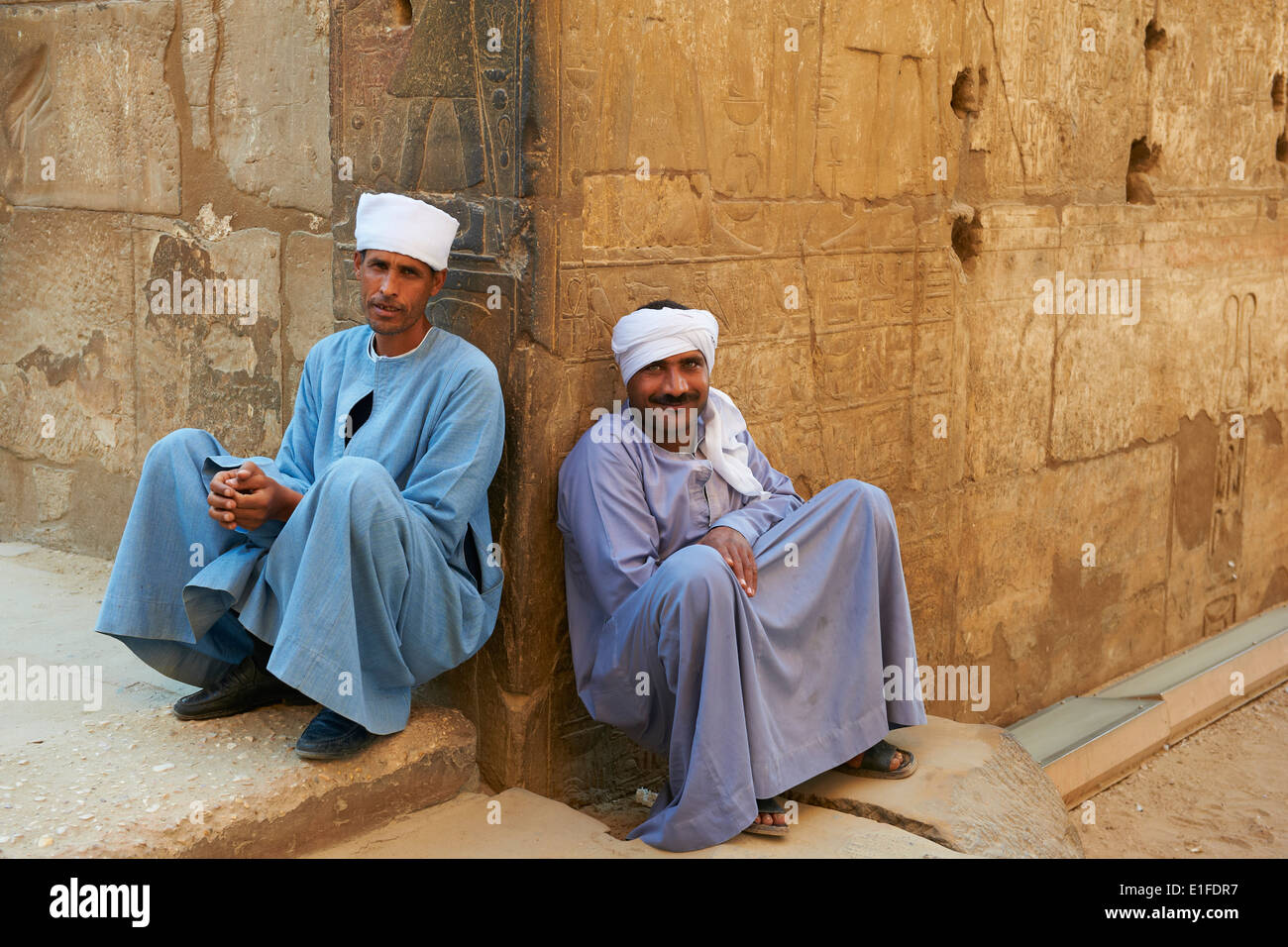 Egypt, Nile Valley, Luxor, The Temple of Luxor, Temple guard - Stock Image