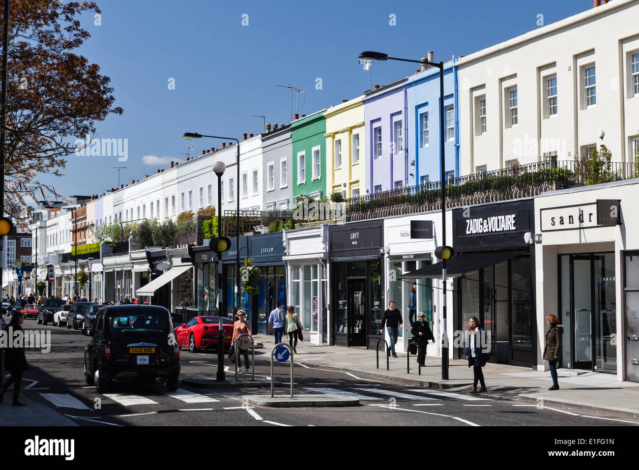 Notting Hill Ladbroke Grove westbourne grove london high resolution stock photography
