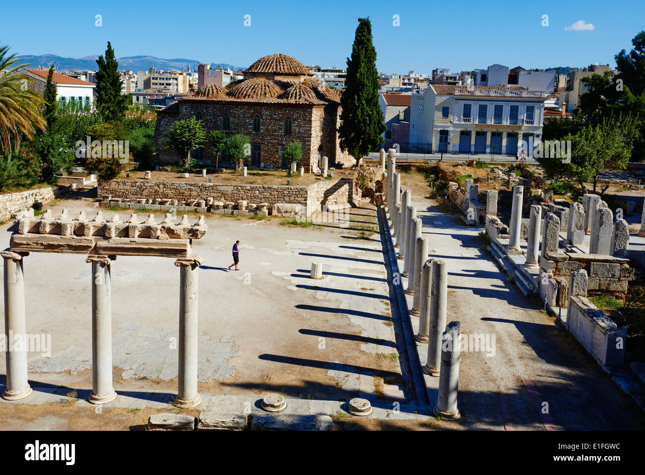 Greece, Athens The Roman Agora Plaka neighbourhood - Stock Image