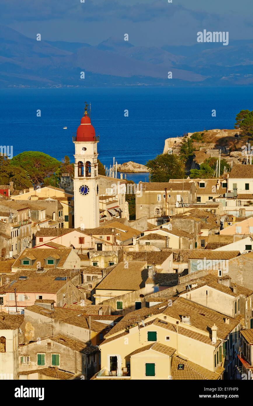 Greece, Ionian island, Corfu island, Kerkyra city, Unesco world heritage, Agios Spyridon church - Stock Image