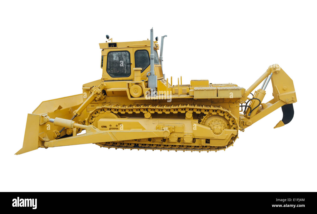 Heavy crawler bulldozer - Stock Image